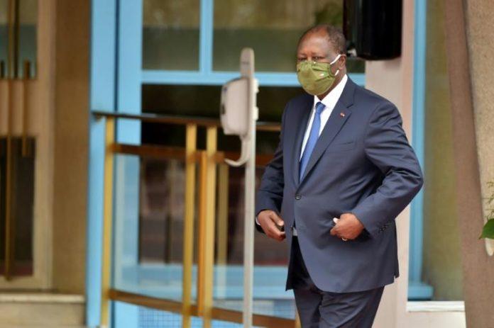 Le président ivoirien Alassane Ouattara aux célébrations des 60 ans d'indépendance de la Côte d'Ivoire, le 7 août 2020 à Abidjan afp.com - SIA KAMBOU