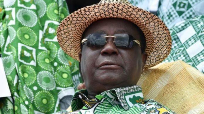 L'ex-président de Côte d'Ivoire Henri Konan Bédié, candidat à la présidentielle ivoirienne, le 12 septembre 2020 à Yamoussoukro afp.com - SIA KAMBOU