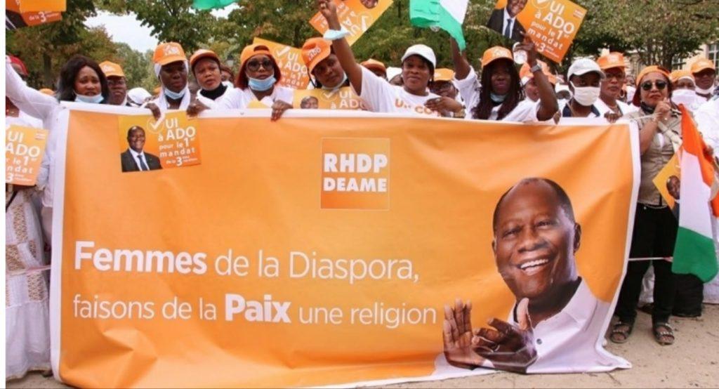 Les femmes du RHDP ont démontré leur amour pour Alassane Ouattara, ce samedi 19 septembre à Paris