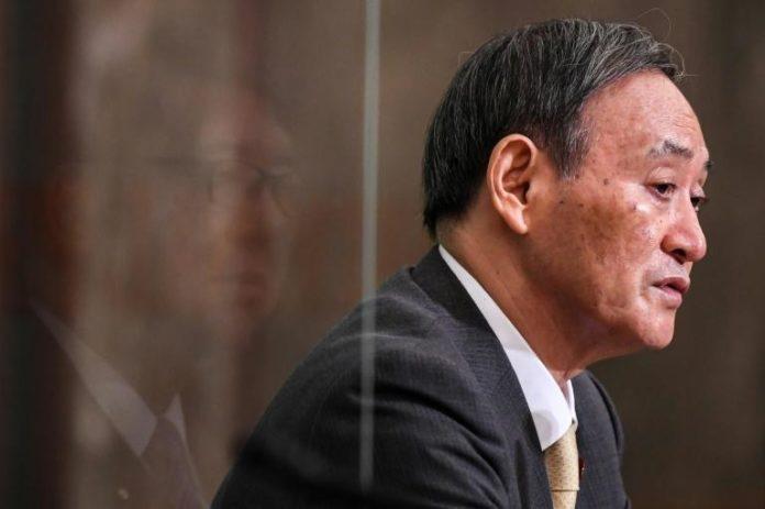 Le secrétaire général du gouvernement japonais Yoshihide Suga, pressenti pour succéder au Premier ministre démissionnaire Shinzo Abe, le 12 septembre 2020 à Tokyo afp.com - Charly TRIBALLEAU, CHARLY TRIBALLEAU