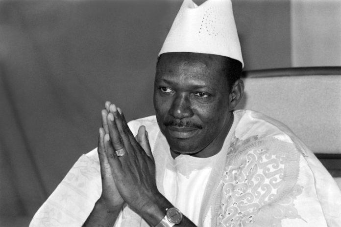 Le président malien Moussa Traoré, le 31 décembre 1985 à Bamako afp.com - FRANCOIS ROJON