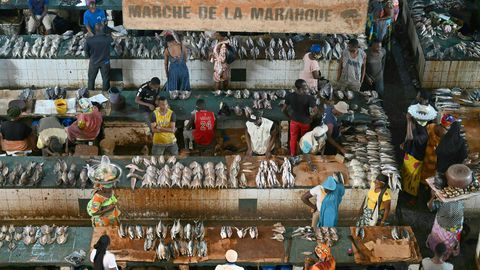 Un marché d'Abidjan, Côte d'Ivoire, le 11 juillet 2020 afp.com - Issouf SANOGO
