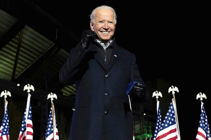 Joe Biden lors de son dernier grand meeting de campagne en