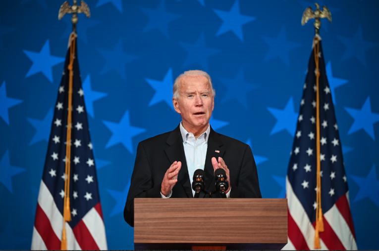Joe Biden et Kamala Harris à Wilmington, dans le Delaware, le 5 novembre 2020 afp.com - JIM WATSON