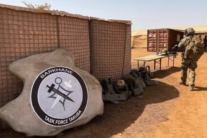Le logo du groupement de Forces spéciales Tabuka, le 3 novembre 2020 à Menaka (Mali) afp.com - Daphné BENOIT