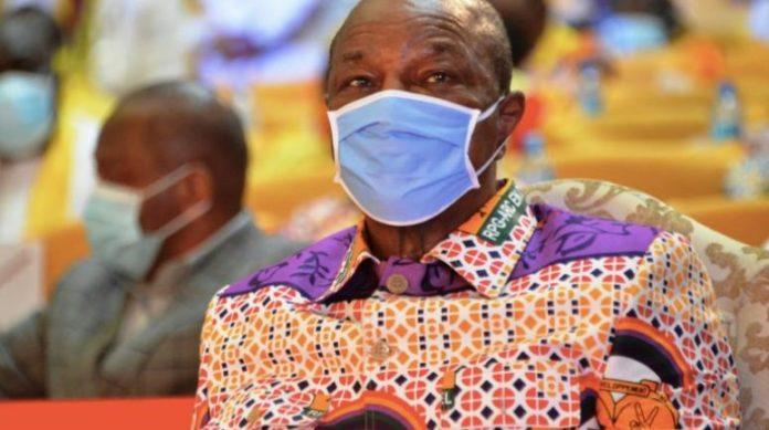 Le président guinéen Alpha Condé, le le 6 août à Conakry afp.com - CELLOU BINANI