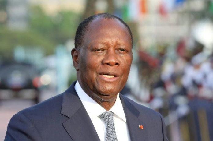 Le président ivoirien Alassane Ouattara à Abidjan, le 21 décembre 2019. afp.com - Ludovic MARIN