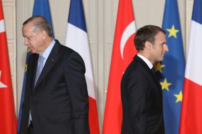 Emmanuel Macron (D) et Recep Tayyip Erdogan, le 5 janvier 2018 à Paris afp.com - LUDOVIC MARIN