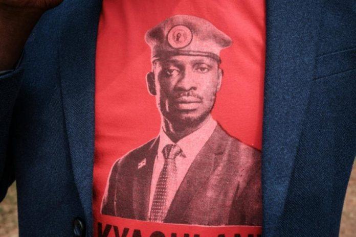 Tee-shirt à l'effigie de Bobi Wine, le 18 janvier 2021. afp.com - YASUYOSHI CHIBA