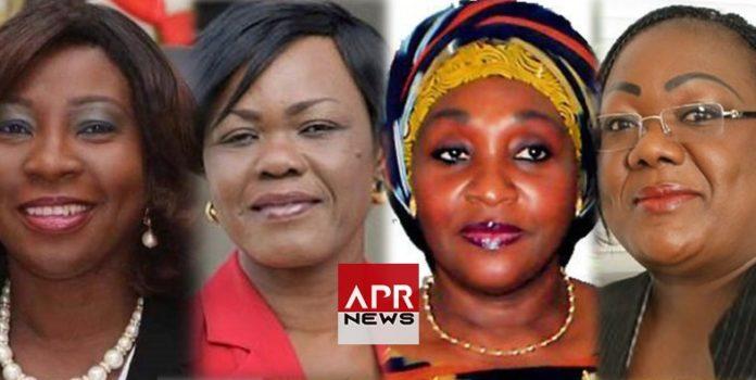 Kandia Camara, Kaba Nialé, Raymonde Goudou Coffie et Anne-Désirée Ouloto
