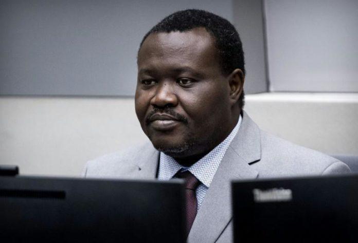 L'ancien ministre centrafricain des Sports, Patrice-Edouard Ngaïssona, devant la Cour Pénale internationale (CPI), le 25 janvier 2019 à La Haye afp.com - Koen van Weel