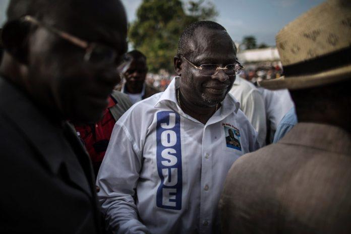 L'opposant Guy Parfait Kolélas, le 17 mars 2016 à Brazzaville afp.com - MARCO LONGARI