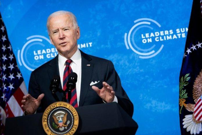 Le président américain Joe Biden s'exprime au premier jour d'un sommet climat à Washington le 22 avril 2021 afp.com - Brendan Smialowski