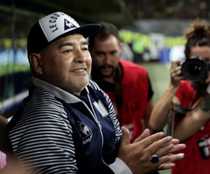Diego Maradona, à Buenos Aires, le 7 mars 2020 afp.com - ALEJANDRO PAGNI