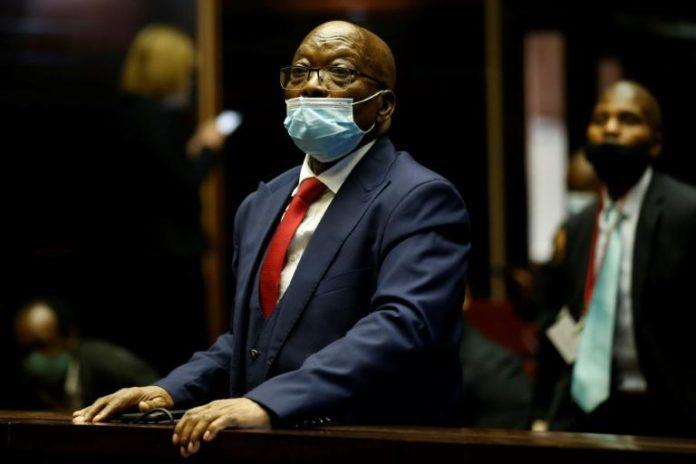 L'ancien président sud-africain Jacob Zuma au tribunal de Pietermaritzburg, le 26 mai 2021 afp.com - PHILL MAGAKOE