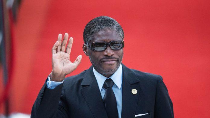 Le vice-président de Guinée équatoriale Teodorin Obiang assiste le 25 mai 2019 à Pretoria à la prise de fonctions du président sud-africain Cyril Ramaphosa afp.com - Michele Spatari