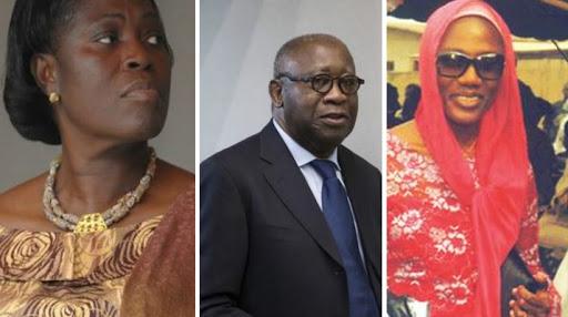 Simone Gbagbo, Laurent Gbagbo et Nady Bamba