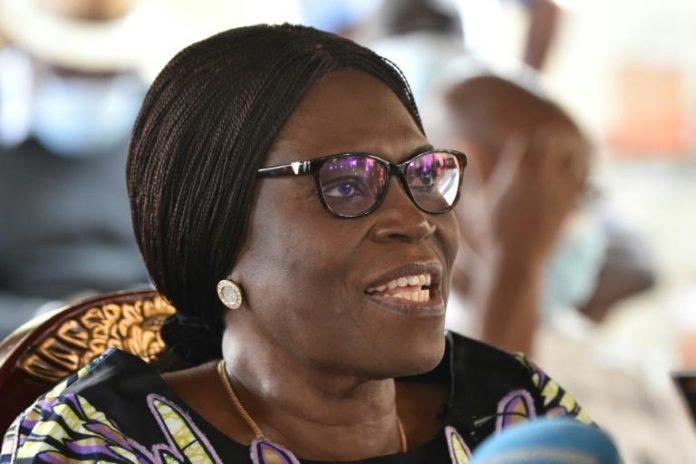 Simone Gbagbo, épouse de l'ex-président ivoirien Laurent Gbagbo et deuxième vice-présidente de son parti, le Front populaire ivoirien (FPI), dans sa résidence à Abidjan, le 11 août 2020 afp.com - SIA KAMBOU