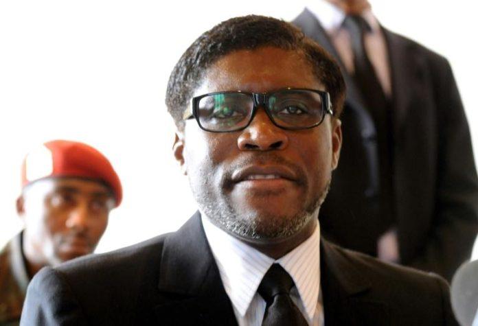 Teodoro Nguema Obiang Mangue, fils du président de Guinée Equatoriale le 24 janvier 2021 à Mbini-Rio Benito, en Guinée Equatoriale afp.com - ABDELHAK SENNA