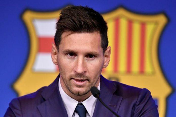 Lionel Messi le 8 aôut 2021 au stade du Camp Nou à Barcelone en Espagne. afp.com - Pau BARRENA