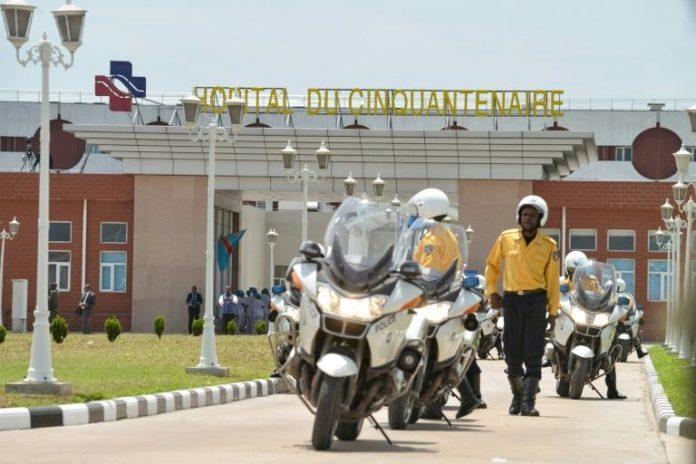Inauguration de l'hôpital du Cinquantenaire à Kinshasa le 22 mars 2014, achevé grâce à la coopération sino-congolaise pour environ 100 millions de dollars afp.com - Junior D. Kannah