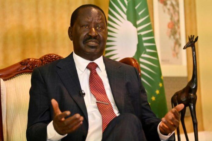 L'ancien Premier ministre et principal opposant kényan Raila Odinga durant un entretien à l'AFP dans son bureau à Nairobi, le 2 septembre 2021 afp.com - Simon MAINA