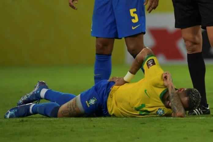 Neymar pendant le match de qualifications pour la Coupe du Monde 2022 Brésil-Pérou, le 9 septembre 2021 à Recife afp.com - NELSON ALMEIDA