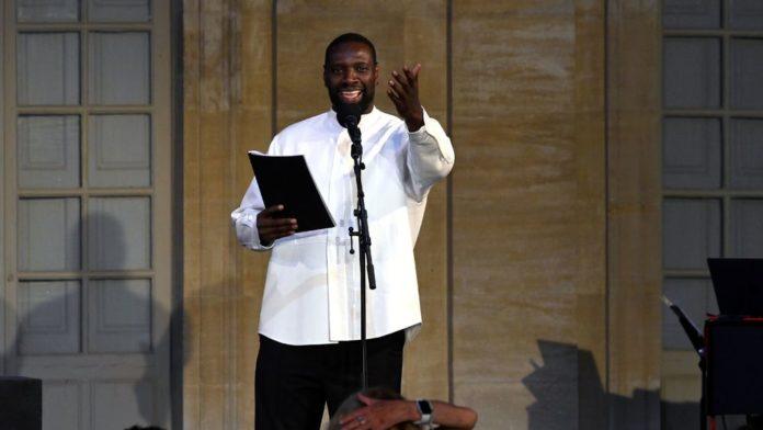 Omar Sy au Festival d'Avignon, le 1O juillet 2021, pour la lecture d'extraits du roman multiprimé